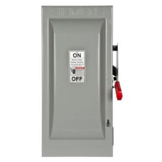 Siemens Heavy Duty 100 Amp 240 Volt 2 Pole Indoor Fusible Safety Switch with Neutral HF223N