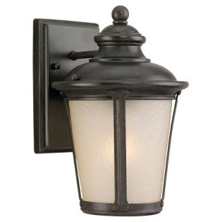Sea Gull 1 Light Outdoor Wall Lantern   Burled Iron