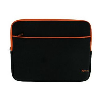 rOOCASE Super Bubble Sleeve Case For 13.3 Macbook Pro and Most 13 Laptops, Black/Orange