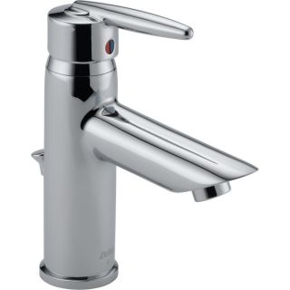Delta Grail Chrome 1 Handle Single Hole WaterSense Bathroom Sink Faucet (Drain Included)