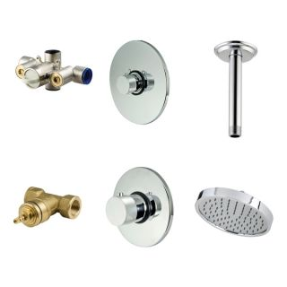Price Pfister Chrome Shower Faucet Kit and Ceiling Mount Shower Head