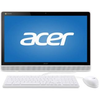 "Acer White DC221HQWMICZ All in One Desktop PC with NVIDIA Tegra K1 Quad Core Processor, 4GB Memory, 21.5"" Touchscreen, 16GB SSD and Chrome OS"