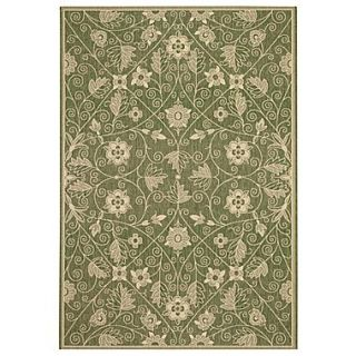 Capel Elsinore Garden Maze Fern Green Indoor/Outdoor Area Rug; 311 x 56