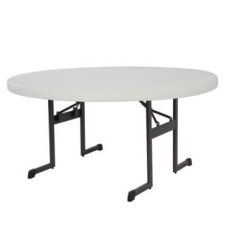 Lifetime 60 in. L Professional Round Grade Folding Table in Putty 80125