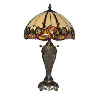 Radionic Hi Tech Nevaeh 27.00 in. Bronze Hand Rolled Art Glass Table Lamp DT_TL_TT90235_RHT