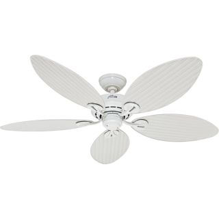 Hunter HUF 54097 Bayview White  Outdoor Ceiling Fans Lighting