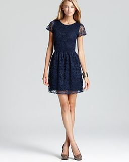 AQUA Lace Dress   Elbow Sleeve Party
