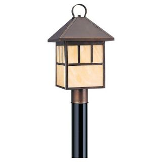 Sea Gull 1 Light Outdoor Post Lantern   Antique Bronze