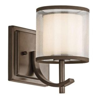 Hampton Bay 1 Light Mission Bronze Wall Sconce 89571