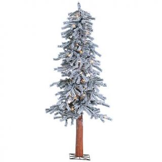 Sterling Lighted Flocked Alpine Christmas Tree   10070568