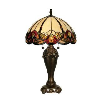 Dale Tiffany 27 in. Northlake Antique Bronze Table Lamp TT90235