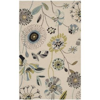 Safavieh Indoor/ Outdoor Four Seasons Ivory/ Blue Rug (26 x 4