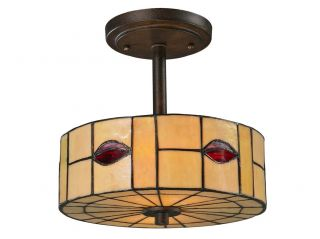 Dale Tiffany TH12448 Rustic Bronze Ceiling Light