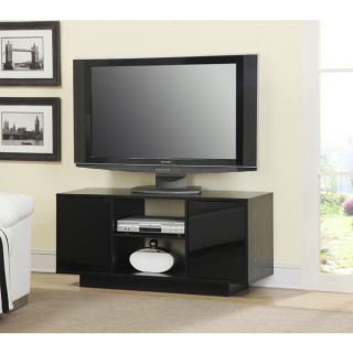 Convenience Concepts Designs2Go Monte Carlo Black Wood/Glass TV Stand