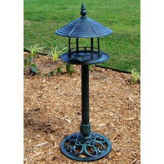 Cast Aluminum Pedestal Bird Feeder   10292190   Shopping