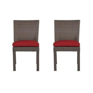 Hampton Bay Beverly Patio Dining Chair with Cardinal Cushion (2 Pack) 65 23311