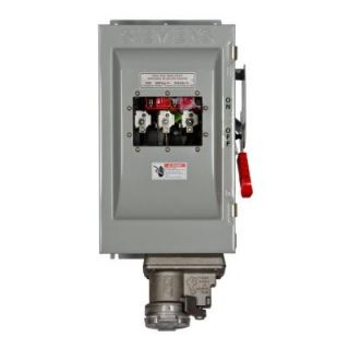 Siemens Heavy Duty 60 Amp 600 Volt 3 Pole type 12 Non Fusible Safety Switch with Receptacle and Window HNF362JCHW