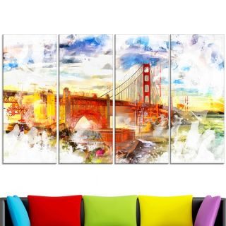 Design Art Colorful San Francisco Canvas Art   17175668