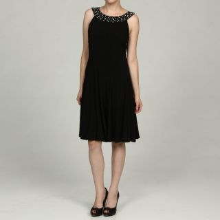 Jessica Howard Womens Black Beaded Neck Dress FINAL SALE   13759461