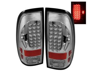 Spyder Auto Ford F150 Styleside 97 03 / F250/350/450/550 Super Duty 99 07 LED Tail Lights   Chrome 5012944