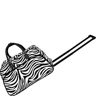 World Traveler Zebra 21 Rolling Duffel Bag