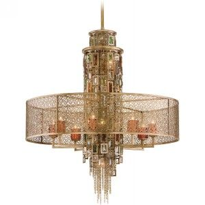 Corbett Lighting COR 123 413 Riviera Riviera Bronze/Silver Leaf  Pendants Lighting