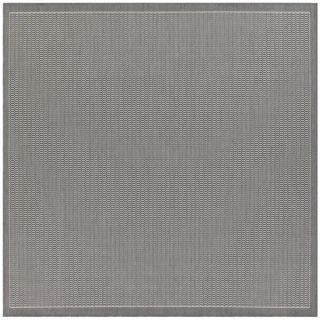 Recife Saddle Stitch Grey Rug (76 Square)   15115906