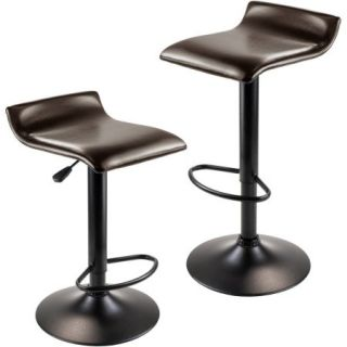 Pairs Air Lift Stools, Set of 2, Black
