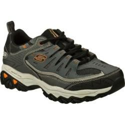 Mens Skechers After Burn Memory Fit Charcoal/Gray   16117881