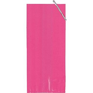 Creative Converting 5.25W x 11L Large Cello Bags, Hot Pink