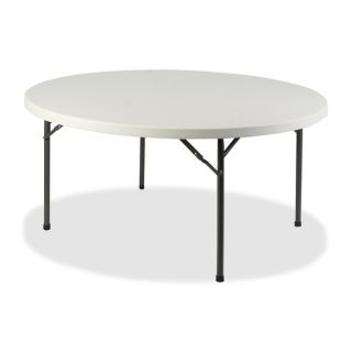 Lorell Platinum 60 inch Round Banquet Folding Table   16428825