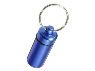 1pc Waterproof Aluminum Pill Box Case Bottle Cache Drug Holder Keychain Container