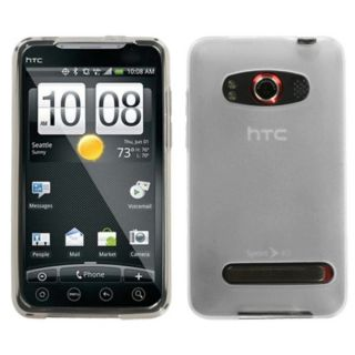 INSTEN Semi transparent White Candy Skin Phone Case Cover for HTC EVO