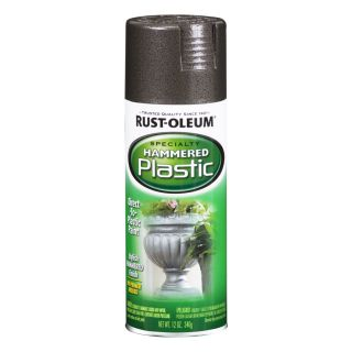 Rust Oleum Specialty Paint for Plastic Black Hammered Fade Resistant Spray Paint (Actual Net Contents 12 oz)