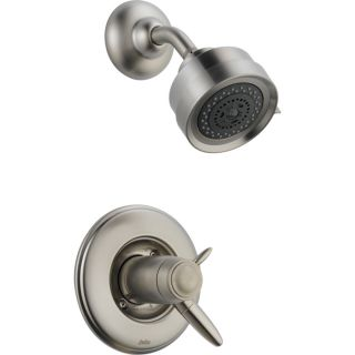 Delta Grail Stainless 1 Handle Shower Faucet Trim Kit with Multi Function Showerhead