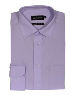 Double TWO King size long sleeve non iron poplin shirt Lilac