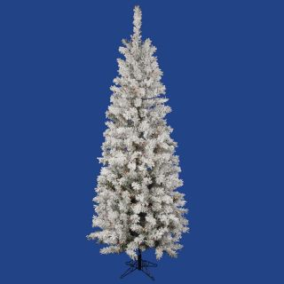 Vickerman Flocked Pacific Pine 6.5 White Artificial Pencil Christmas