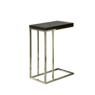 Monarch Specialties Cappuccino Hollow Core and Chrome Metal Accent Table I 3007