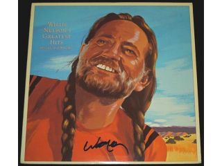 Willie Nelson Autographed Willie Nelson'S Greatest Hits And Some That Will Be Lp Record Album Cover