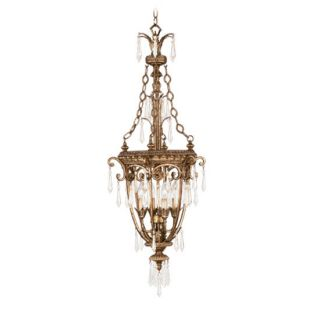 Livex Lighting 8808 65 Vintage Gold Leaf Pendant Light