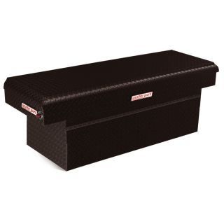 WEATHER GUARD 71.5 in x 20.25 in x 24 in Black Aluminum Full Size Truck Tool Box