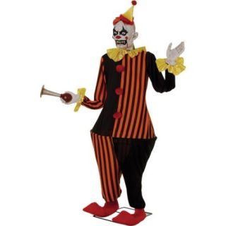 Life Size Animated Evil Halloween Clown Decoration