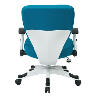 Office Star 5200W Managers Chair with Padded Mesh Seat and Back Height Adjustable Flip Arms and Coated Nylon Base