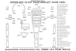 2010, 2011 Chevy HHR Wood Dash Kits   Sherwood Innovations 3886 R   Sherwood Innovations Dash Kits