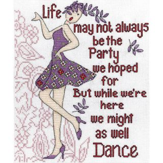 Dance Party Counted Cross Stitch Kit 8inX10in 14 Count   16426897