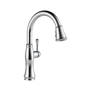 Delta 9197 DST Cassidy Single Handle Pull Down Kitchen Faucet in Chrome