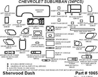 1995 1999 Chevy Tahoe Wood Dash Kits   Sherwood Innovations 1065 N50   Sherwood Innovations Dash Kits