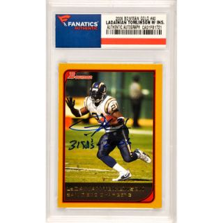 Ladainian Tomlinson San Diego Chargers  Authentic Autographed 2006 Bowman Gold #40 Card with 31 TDs 2006 Inscription