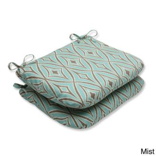 Pillow Perfect Full Bloom Wrought Iron Seat Outdoor Cushions (Set of 2