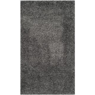 Safavieh California Shag Dark Gray 8 ft. x 10 ft. Area Rug SG151 8484 8